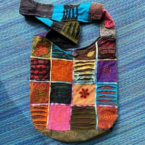 BOHO hippie gypsy patchwork shoulder bag